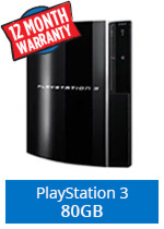 Sony PlayStation 3 Console (80Gb) (preowned)