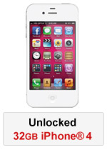 iPhone® 4 32GB Unlocked - White (Refurbished by EB Games) (preowned)
