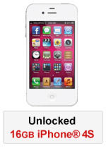 iPhone® 4S 16GB Unlocked - White (Refurbished by EB Games)