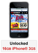 iPhone® 3GS 16GB Unlocked - Black (Refurbished by EB Games) (preowned)