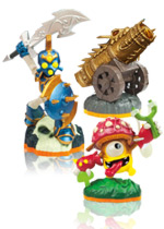Skylanders Giants Battlepack: Chop Chop, Shroomboom, Golden Dragonfire Cannon