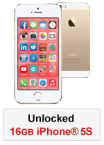 iPhone® 5S 16GB Unlocked - Gold (Refurbished by EB Games) (preowned)