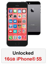 iPhone® 5S 16GB Unlocked - Black (Refurbished by EB Games)