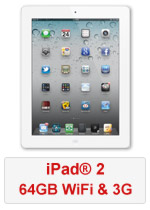 iPad® 2 64GB WiFi & 3G - White (Refurbished by EB Games)